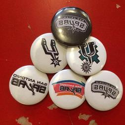 "1.25"" San Antonio Spurs pin back button set of 6"