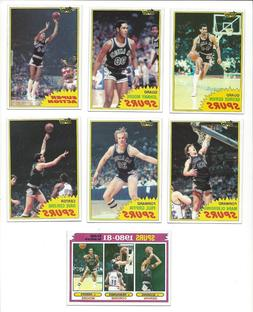 1981 Topps San Antonio Spurs Team Set  NM inc 3 George Gervi