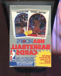 1989 90 hoops basketball wax pack box