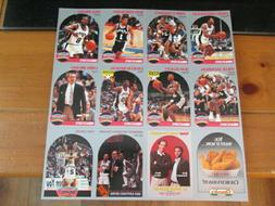 1990-91 NBA San Antonio Spurs Un-Cut Sheets Church's Chicken