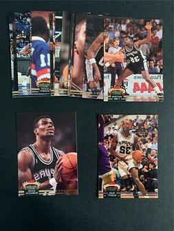 1992/93 Topps Stadium Club San Antonio Spurs Team Set 17 Car