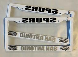2 san antonio spurs white license plate