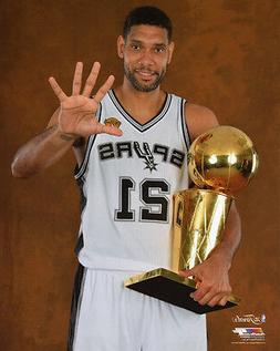 2014 San Antonio Spurs TIM DUNCAN Glossy 8x10 Photo NBA Fina