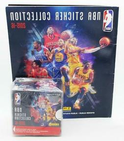 2015-16 Panini NBA Basketball Sticker Album & 50 Count Box o