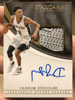 2016-17 Immaculate Sneaker Swatch Dejounte Murray RC AUTO Si