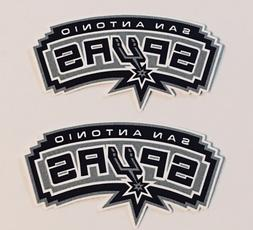 2x San Antonio Spurs Car Bumper Laptop Wall Vinyl Die Cut St