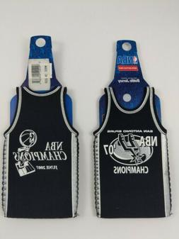 2x San Antonio SPURS NBA Jersey Bottle Coolers Koozie Insula