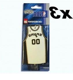 3x NBA San Antonio Spurs Jersey Air Fresheners - Outdoor Fre