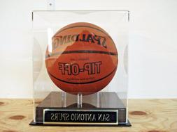 Basketball Display Case For Your San Antonio Spurs Team Auto