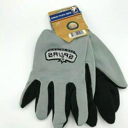 NBA Colored Palm Utility Gloves Black and Gray