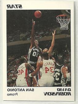 David Robinson 1990 Star Company San Antonio Spurs WHITE Pro