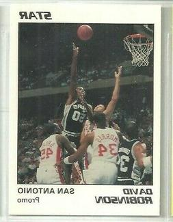 David Robinson 1990 Star San Antonio Spurs Glossy WHITE Prom