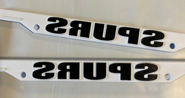 2 San Spurs White License NEW FREE SHIPPING
