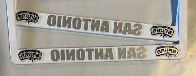 2 San Antonio White License Plate Frames NEW Truck FREE SHIPPING