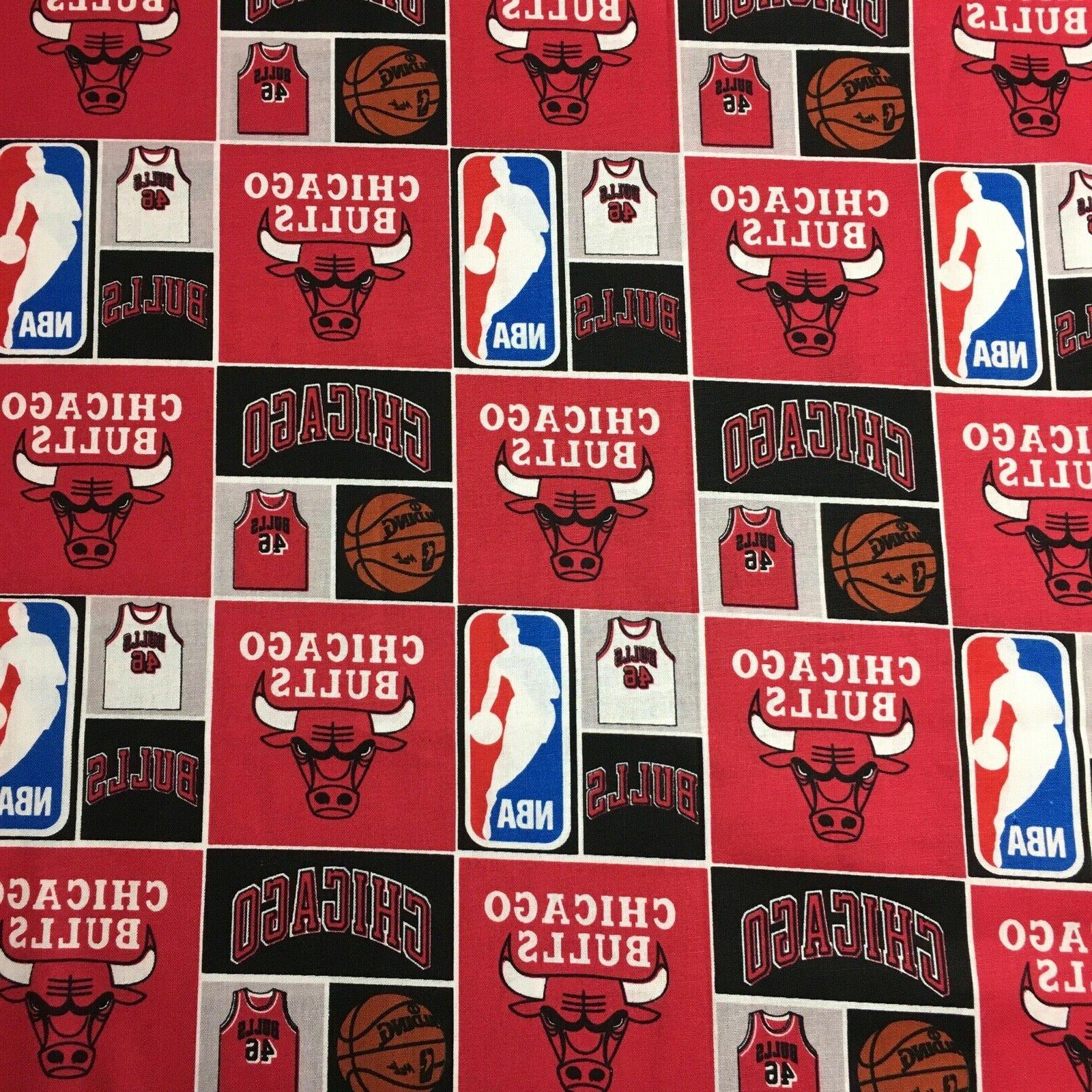 Indiana Pacer Bulls Quilting Fabric