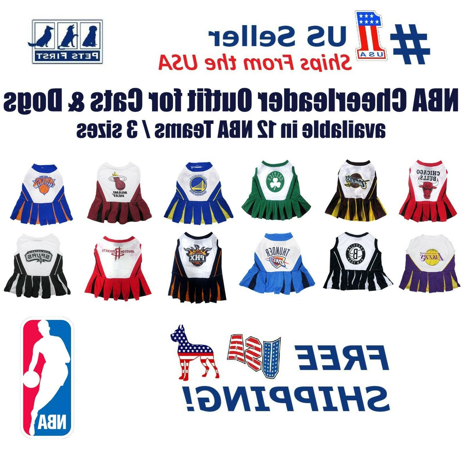 nba licensed cheerleader outfit for dogs