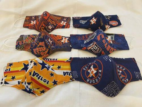 NFL NBA Mask, MLB Team 3-layered Pocket