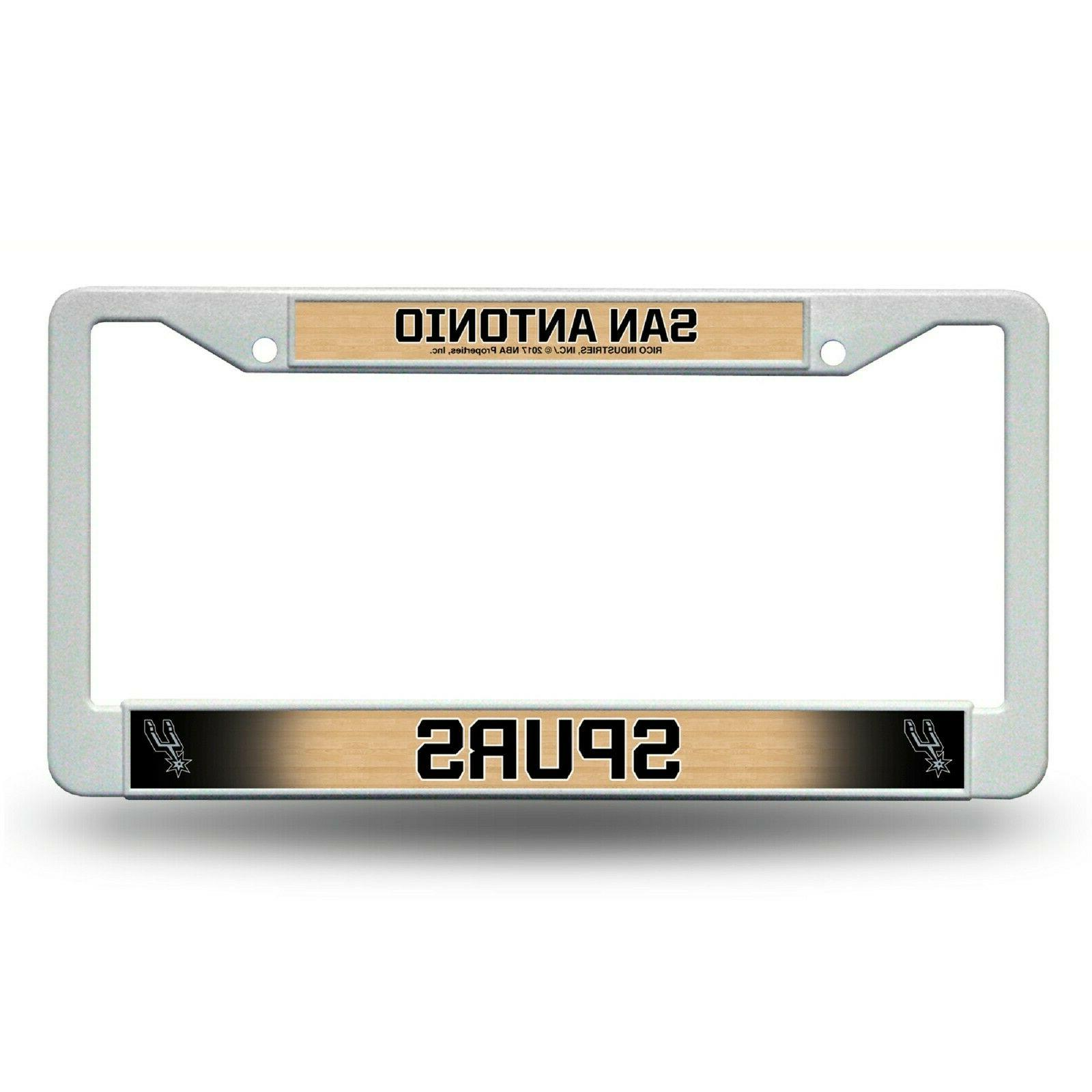 san antonio spurs plastic license plate frame