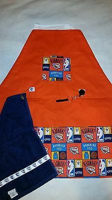 sports apron made with nba fabric on