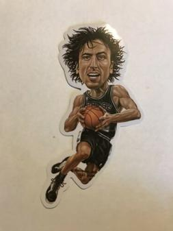 LARGE VINYL STICKER NBA SAN ANTONIO SPURS MANU GINOBILI, Ska