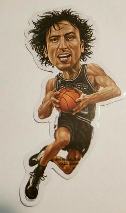 LARGE VINYL STICKER NBA SAN ANTONIO SPURS MANU GINOBILI
