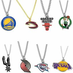 logo necklace charm pendant NBA PICK YOUR TEAM