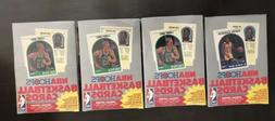 Lot of 4 1989-90 Sealed Hoops Basketball Series 2 Boxes From
