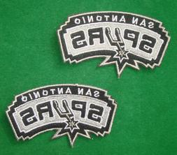 LOTS 2pcs San Antonio Spurs  Iron On Embroidered Badge Patch