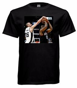 "Manu Ginobili San Antonio Spurs ""The Block"" Tribute T Shirt"