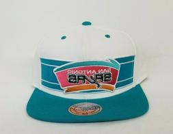 Mitchell & Ness NBA San Antonio Spurs Teal / White Adjustabl