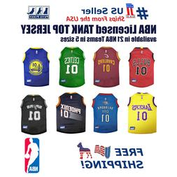 NBA Jersey for DOG & CATS - Licensed, Comfy Mesh, 21 Basketb