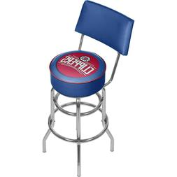 NBA Los Angeles Clippers Padded Swivel Bar Stool with Back