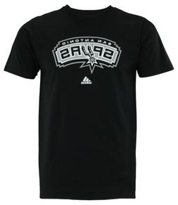 Adidas NBA Men's San Antonio Spurs Primary Logo T-shirt, Bla