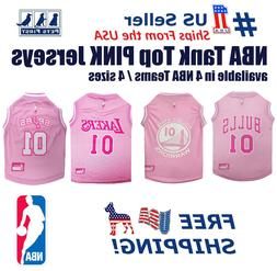 Pets First NBA Pink Jersey - 4 Basketball Licensed Teams, 4