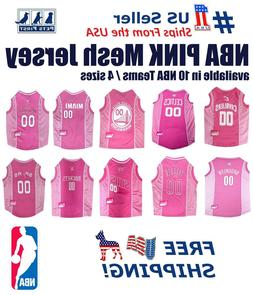 NBA Pink Pet Jersey. 10 Licensed Basketball Teams, 4 Sizes.
