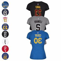 NBA Adidas Player Name & Number Cap Sleeve T-Shirt Women's