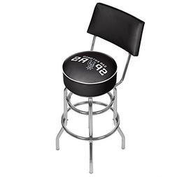 NBA San Antonio Spurs Padded Swivel Bar Stool with Back