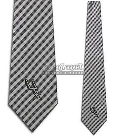 NBA - San Antonio Spurs Tie Basketball Gingham Neckties Lice