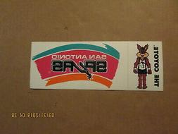 NBA San Antonio Spurs Vintage THE COYOTE Team Logo Basketbal