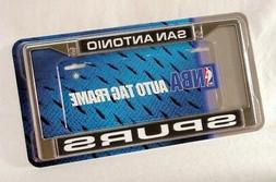 NBA San Antonio Spurs Laser Cut Chrome Plate Frame