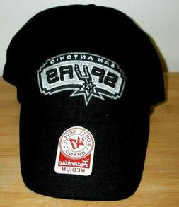 New Black San Antonio Spurs 47 Brand NBA Basketball Fitted B