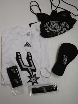 NEW Mens Adidas San Antonio Spurs NBA Basketball Combo Pack