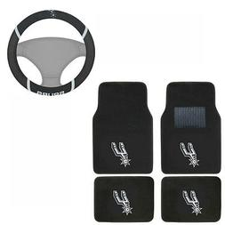 New NBA San Antonio Spurs Car Truck Carpet Floor Mats & Stee