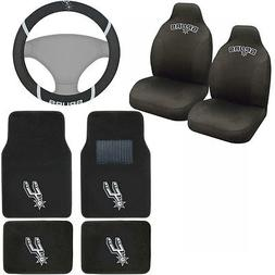 New NBA San Antonio Spurs Car Truck Seat Covers Floor Mats S
