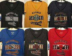 New NBA Women's T-Shirt Basketball Tee Shirt Ladies V-neck -