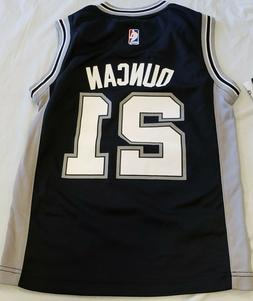 """New San Antonio Spurs """"DUNCAN"""" Jersey Youth S DEFECT PIC 3"""