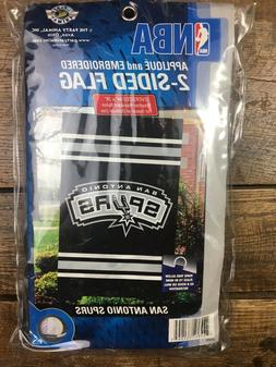 """NWT SAN ANTONIO SPURS Flag Two-Sided Banner 44"""" x 28"""" Indoor"""