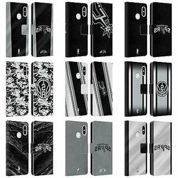 OFFICIAL NBA SAN ANTONIO SPURS LEATHER BOOK WALLET CASE FOR