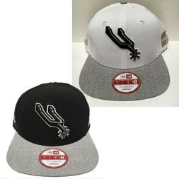 New Era OG Fit NBA Logo Refresh Heather Snapback - San Anton