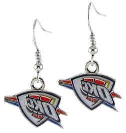 Oklahoma City Thunder NBA Dangle Logo Charm Earring Set